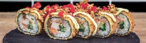 Panda chef sushi a wok